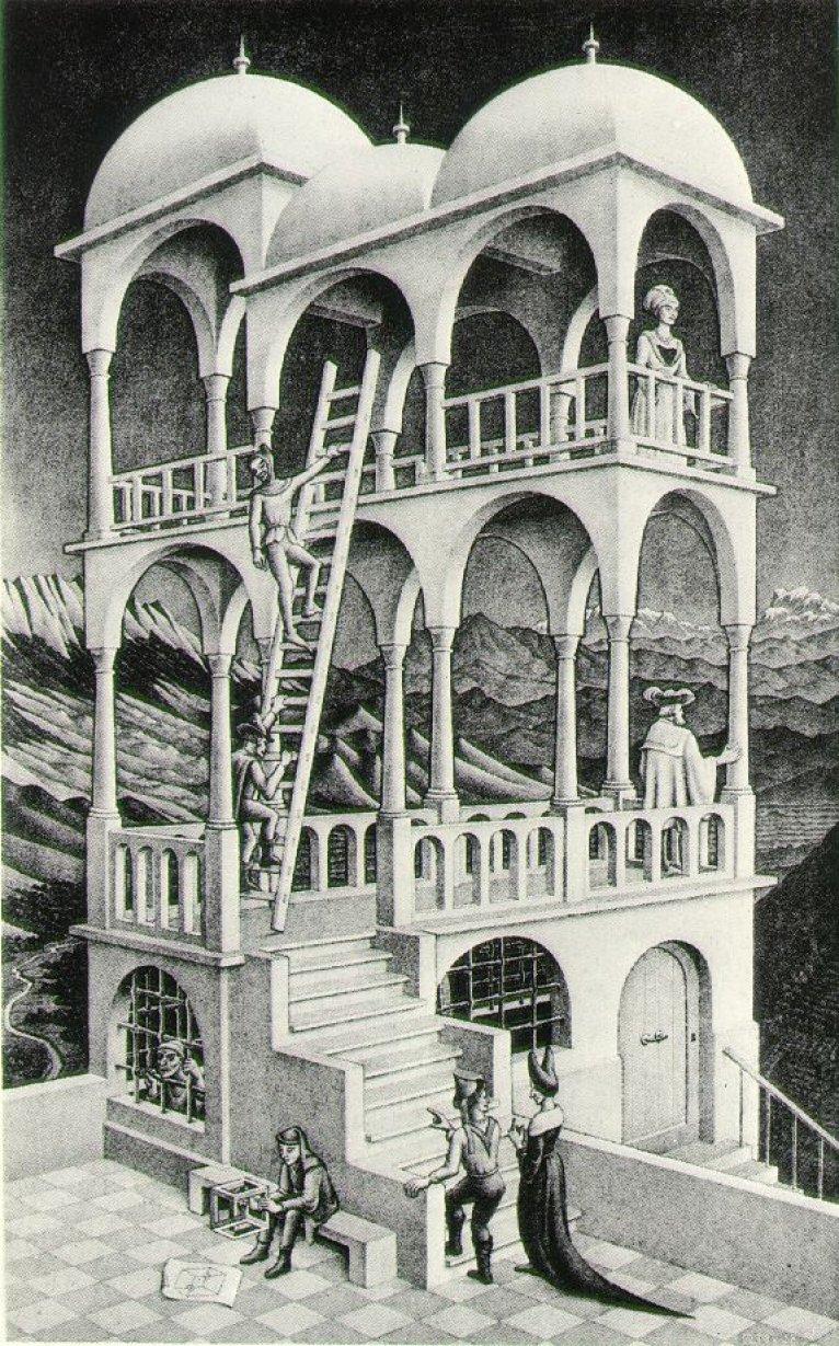 M c escher belvedere 1958 for Mc escher gallery