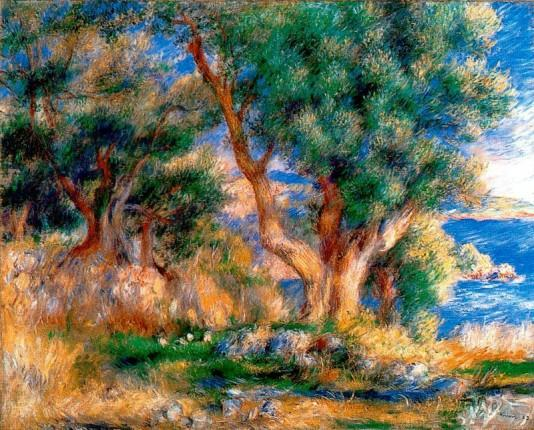 Renoir landscape near menton images for Nearby landscapers