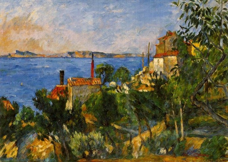 Paul Cezanne View From L 39 Estaque 1863 Large View