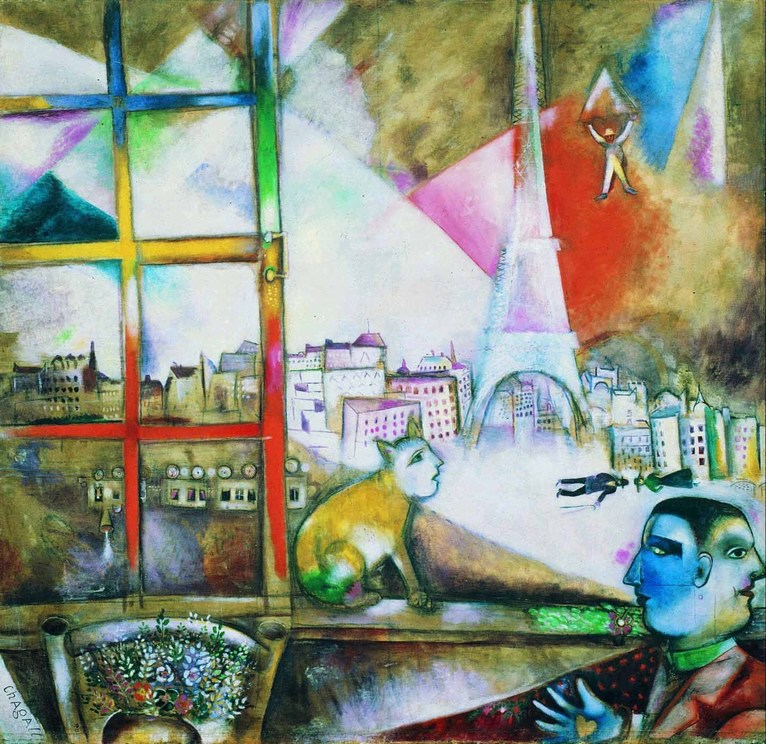 Paris through the window guggenheim museum marc chagall